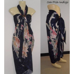 Sarong Pareo Beach Wrap dress 6 options Fish pattern Ocean Scene