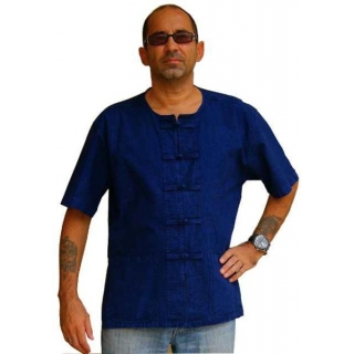 Blue Mens Shirt Asian K..