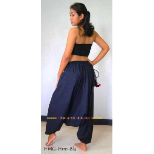BLACK North Thailand Hilltribe Cotton Harem Pants Hmong Trousers