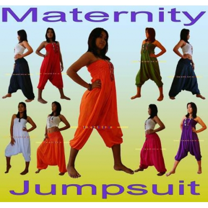Essential Pregnancy Maternity Jumpsuit Baggy Harem Trousers