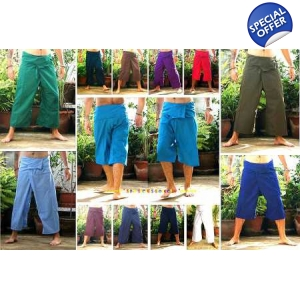 Real Thai Fisherman Pants Lightweight Yoga Trousers Unisex 26 Options