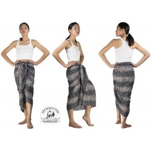 Unisex Animal Print Sarong Grey and White Cat Pareo Shawl or Scarf