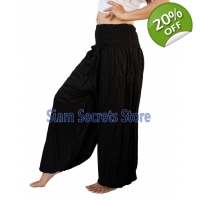 Casual Trousers Aladdin Black Harem Pants Yoga D..