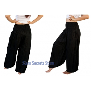 Casual Trousers Aladdin Black Harem Pants Yoga Dance Sweatpants