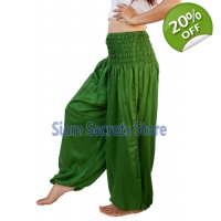 Casual Trousers Aladdin Green Harem Pants Yoga D..