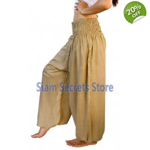 Casual Trousers Aladdin Beige Harem Pants Yoga Dance Sweatpants
