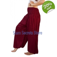 Casual Trousers Aladdin Maroon Harem Pants Yoga ..