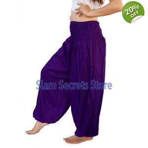 Casual Trousers Aladdin Purple Harem Pants Yoga Dance Sweatpants