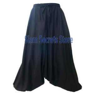 Black Baggy Harem Baloon Pants Classy Genie Trousers One-size