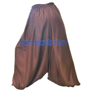 Silky Brown Baggy Pants Baloon Aladdin Baggy Harem Trousers One-size