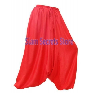 Vivid Red Baggy Harem Pants Onesize Sarouel Trousers