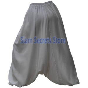 Luxury Baggy White Harem Pants Sarouel Genie Style Trousers