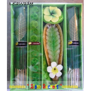 Large Incense gift Set Lelawadee Candle Joss Sticks & Cones