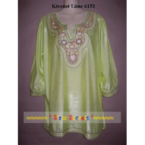 Stunning Thai Silk Embroidered Top Shirt Ladies KURTA-3 COLOURS