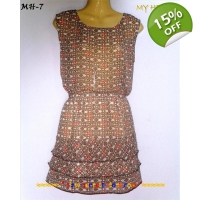 Pretty layered Chiffon Mini Dress-Cute Asian Des..