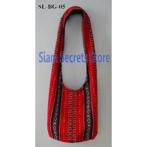 Monks Red Sling Bag, Unique, Unisex, Ethnic Style Hippy Shoulder Bag