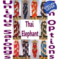 Ethnic Sarong Pareo Colorful Elephant Pattern 10..