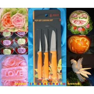 Vegetable Soap Carving knife set Pop Art Knives 3 pieces