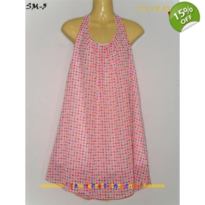 Cute Polka Dot Pattern Asian Styled Mini Dress Chiffon By My Heart