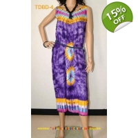 Unique Tie dye Summer Beach Ladies dress- Purple..