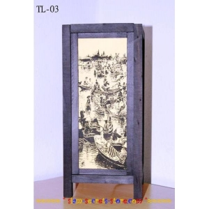 Asian Styled Thai Table lamp Rice Paper Lantern 5 Designs