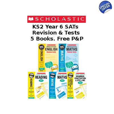 Year 6 Exam Pack [5 Books] KS2 SATs Revision Guides and Practice Tests for English and Maths with Free P&P