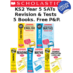 Year 5 Exam Pack [5 Books] KS2 SATs Revison Guid..