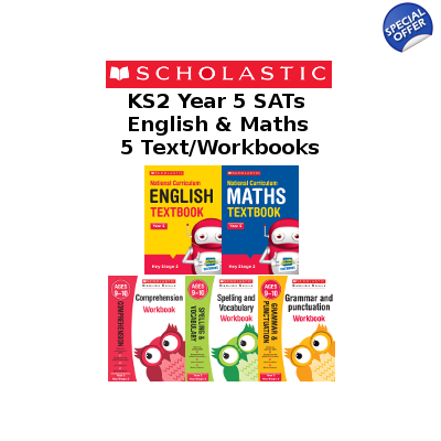 Year 5 Learning Pack [5 Books]  KS2 SATs English & Maths Textbooks and Workbooks. Free P&P
