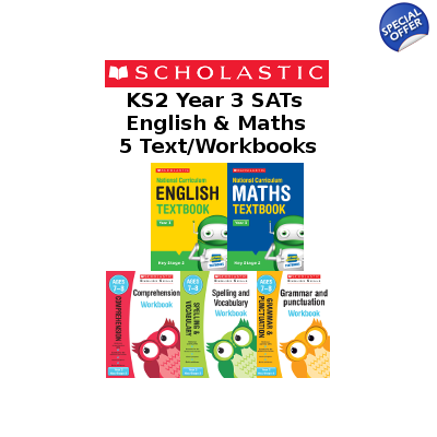 Year 3 Learning Pack [5 Books] KS2 SATs Textbooks and Workbooks for Maths and English. Free P&P.