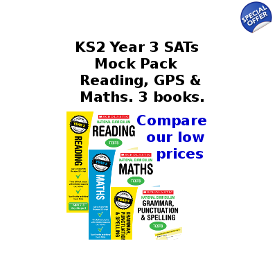 Year 3 Mock Pack [3 Books] KS2 SATs Practice Tests for English and Maths