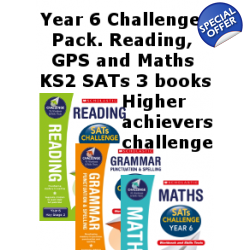 Year 6 Challenge Pack [3 Books] for English, GPS and Maths..