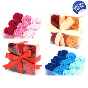 Set of 9 Soap Flowers