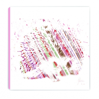Hedgehog Canvas Print Pink NLittle Ones Nursery Range