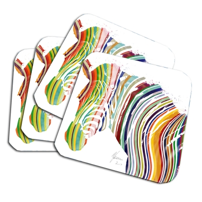 Zebra Coaster set Colou..