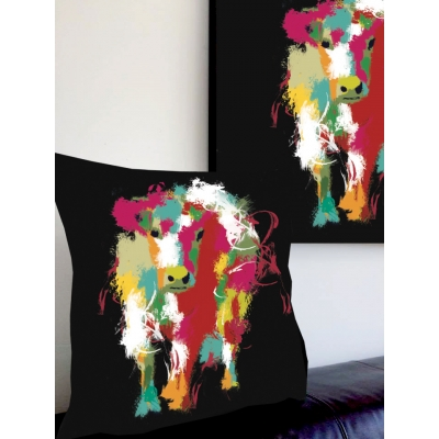 Cow Cushion- Multi coloured ..