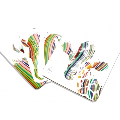 Animal Coaster Mix Set- Colourful Stripes