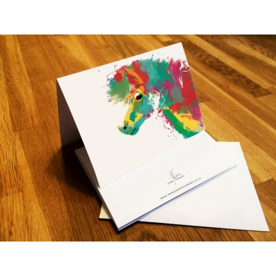 Scruffy Pony Greeting Card- Personalised