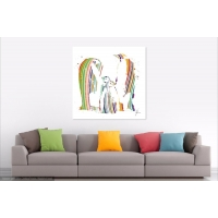 Penguin Canvas Print Muti coloured penguins
