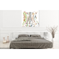 Tiger Canvas Print Multi coloured striped design