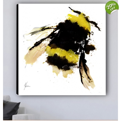 Bumblebee Canvas Print designed by Aimee Freeman