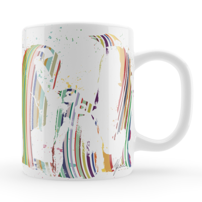 Penguin Cup Colourful Mug & Coaster Gift Set