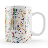 Colourful Tiger Mug & Coaster Gift Set
