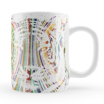 Colourful Tiger Mug & Coaste..