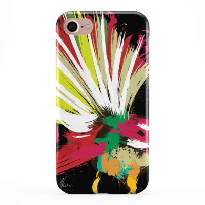 Colourful Fantail Phone Cover iphone & Samsung Black