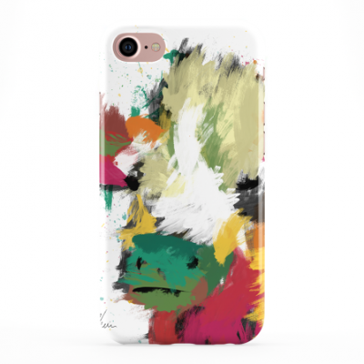 Colourful Scruffy Cow Phone Cover iphone & Samsung-White