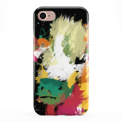 Colourful Scruffy Cow Phone Cover iphone & Samsung-Black