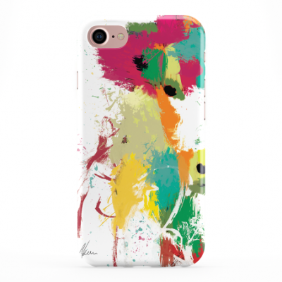 Colourful Scruffy Cow Phone Cover iphone & Samsung- White