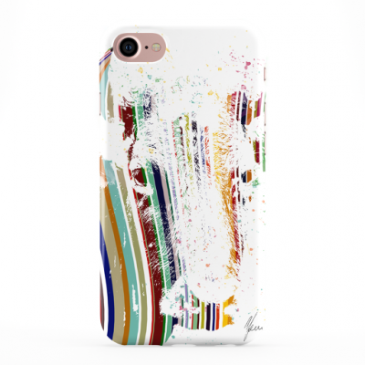 Colourful Stripey Cow Phone Cover iphone & Samsung