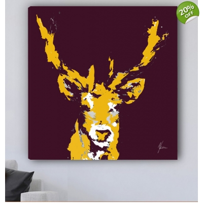 Stag Canvas Print Plum ..
