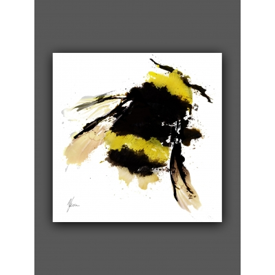 Bumblebee Fine Art Print, Hand Finsihed with Gold Foil